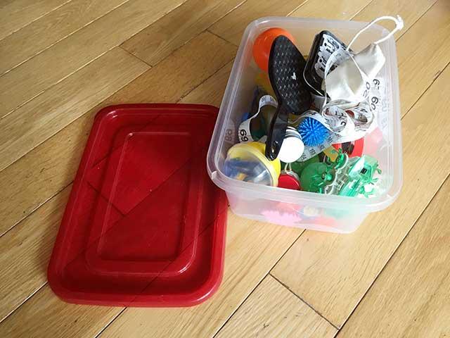 子供が自分で片付けるようになる:何でも箱