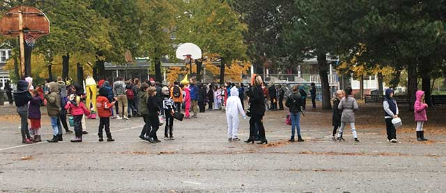 ハロウィーン当日の生徒の服装