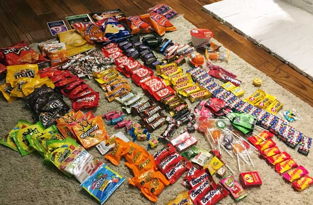 ハロウィンでゲットしたお菓子