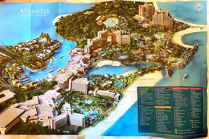 [バハマ]アトランティスの地図
